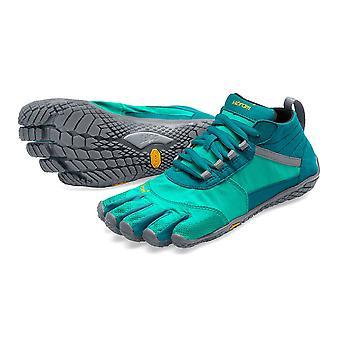 Vibram V-Trek Womens Mega Grip Five Fingers Walking Hiking Trek Trainers Shoes - Teal/Grey