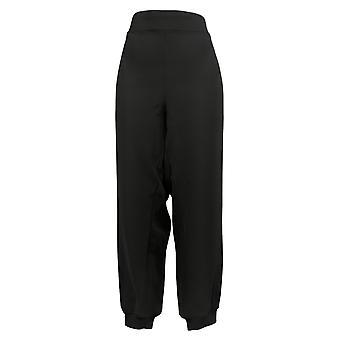IMAN Global Chic Women's Pants Side Stripe Jogger Black 737043001