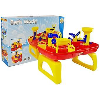 Toy víz asztal - sárga és piros - összecsukható