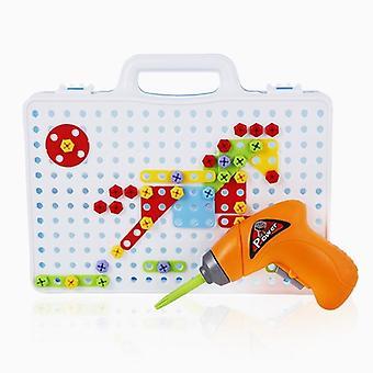 Deti Drill, Vzdelávacie Puzzle Diy Stavebná hra, Elektrické vŕtacie skrutky