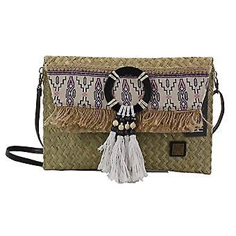 Eferri Nature, handbag with Narendra shoulder strap with women's flan draw, brown, 30 x 20 x 1 cm