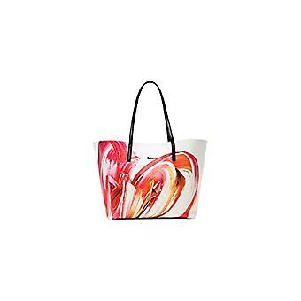 Desigual PU حقيبة التسوق، المتسوقة حقيبة المرأة، أبيض، U(2)