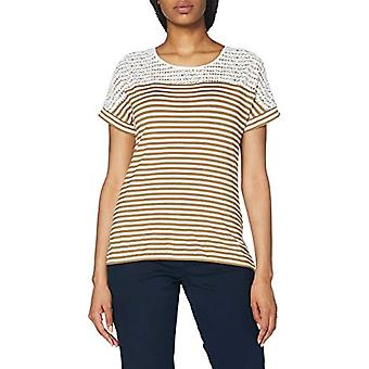 Gerry Weber 370286 T-Shirt, Green/Cru/White Striped, 34 Women