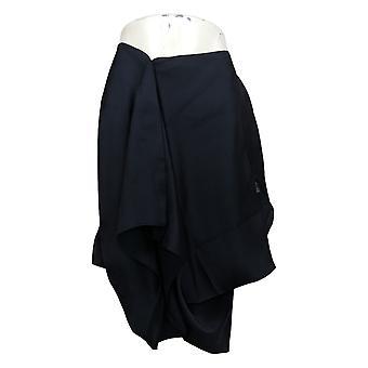 Laurie Felt Women's Top Small V-Neck Blouse w/ High-Low Hem Blue A309541