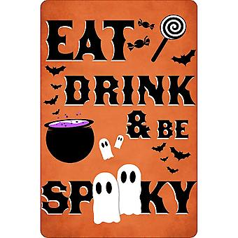 Greet Tin Card Eat Drink & Be Spooky Plaque