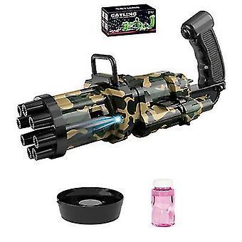 أسود التلقائي جاتلينغ بندقية الصيف فقاعة الصابون آلة الاطفال في الهواء الطلق az22119