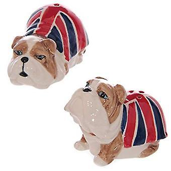 Union Flag British Bulldog Salt and Pepper Set