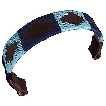 Carlos Diaz designer ægte læder vokset broderet gaucho polo hest tøjle pandebånd awo20933