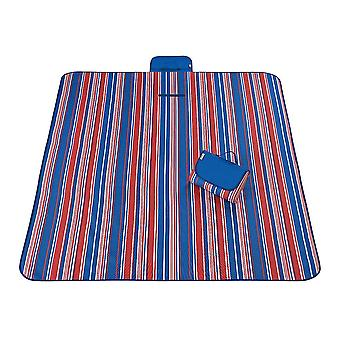 Blue and red 145x180cm outdoor moisture-proof waterproof oxford cloth picnic blanket mat striped park blanket necessary for picnic homi2810