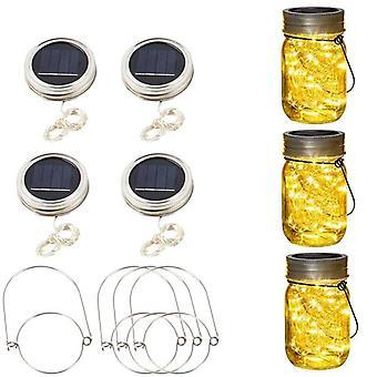 Solar Mason Bottle Jar Lights 20 Led String Fairy Firefly Lights