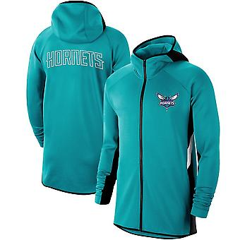 Charlotte Hornets Teal Showtime Therma Flex Performance Full-zip Hoodie
