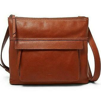 Fossil Aida Crossbody Medium Brown Leather Handbag Bag SHB2011210