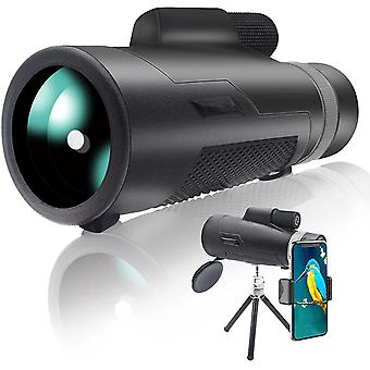 Telescope Monocular Telescope 12x60 HD for Adults & Children, Monocular Scope BAK-4 Prism FMC Telescope Monocular with Digiscoping Kit Telescope Compact Cell Phone Telescope For Outdoor Hikes,(black)