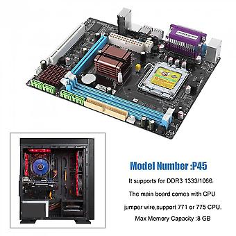 P45 Computer Mainboard Motherboard 771/775 Dual Board  Ddr3 Support L5420