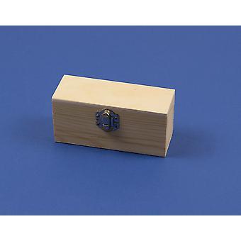 Boîte en bois de 13cm avec fermoir pour décorer pour l'artisanat