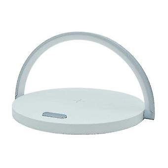10W Qi Fast Wireless Charger Table Lamp For I Phone Charging Night Light  LED Night Lights(White)