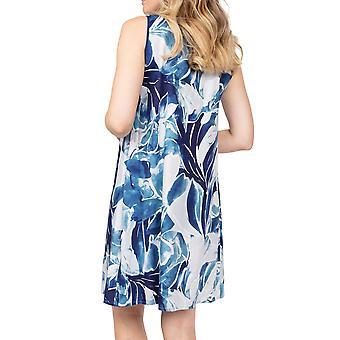 Cyberjammies Ellie 4861 Robe de nuit bleue en coton floral bleu femme