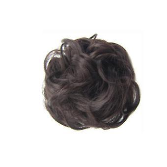 3 stuks synthetische krullen chignons rubber band elastische scrunchie hair extensions lint haar clip