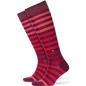 Burlington Blackpool Knee High Socks - Red/Purple