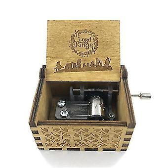 Herr Ringe Musik-Box - antik geschnitzt