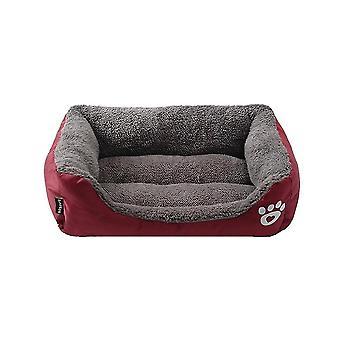 Impermeable Acogedor Cama para perros Cestas de nido de lana suave para mascotas