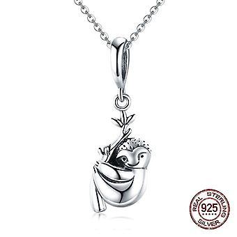 925 Sterling Ezüst Koala Medál Fit Pandora Nyaklánc Charms Karkötő Charm