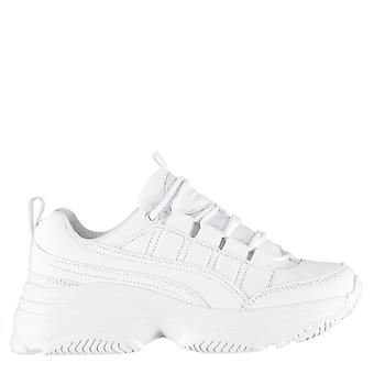 Fabric Womens Luca Trainers Sneakers Lace Up Chunky Rubber Sole Shoes