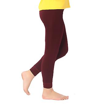 Women Warm Thick Fleece Fur Lined Thermal Leggings Solid Stretch Winter Pants