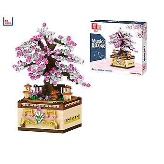 0984merry-go-round sommerstrand musikk roterende boks dekorasjon barnas puslespill montering byggeklosser