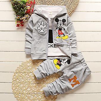 Gyerekek Baby Boy Girl Ruhák Mickey egér kabát póló nadrág set ruhák