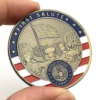 Glory Sniper Münzen Vergoldete Bronze Glas Münze Sammlermünzen Bemaltes Handwerk Gedenkmünze Medaille