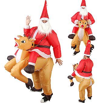 Noël Costume de wapiti gonflable Noël Cosplay Renne-rider pour adulte
