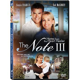 The Note III: Notes From the Heart Healer [DVD] USA import