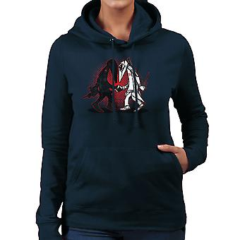 Ninja Vs Ninja Snake Eyes Vs Storm Shadow Spy Vs Spy GI Joe Women's Hooded Sweatshirt