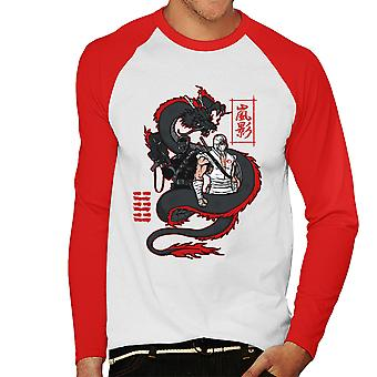 Arashikage Clan Storm Shadow slangogen GI Dragon Joe mannen honkbal lange mouwen T-Shirt