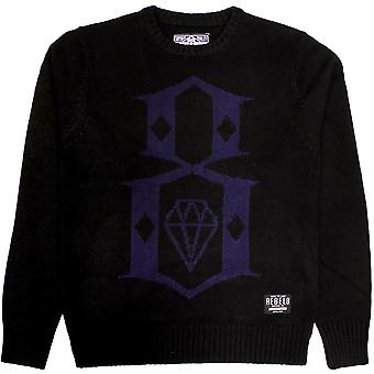 REBEL8 Huxtable Mens Crewneck Jumper Black