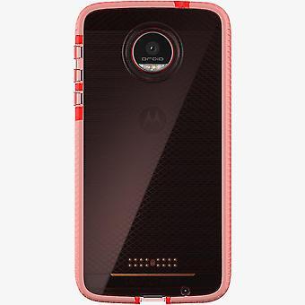Tech21 Evo Check FlexShock Case for Moto Z Force Droid - Rose Pink/White