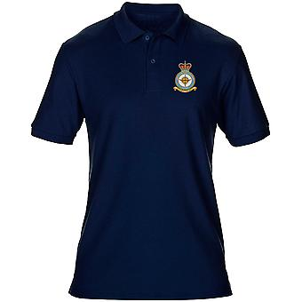 Wyton RAF Station Embroidered Logo - Official Royal Air Force Mens Polo Shirt