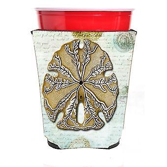 Carolines Schätze SB3026RSC Sanddollar rot Solo Cup Getränk Isolator Hugg