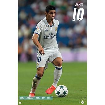Real Madrid - James Rodriguez 16 affisch Skriv