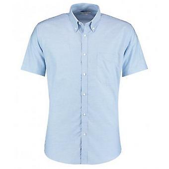 Kustom Kit Mens Slim Fit Short Sleeve Oxford Shirt