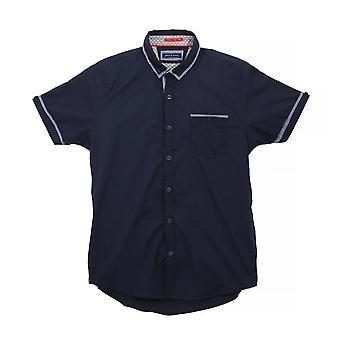 Modig själ Mens Colvin Kortärmad skjorta med kontrast kontrollera detalj