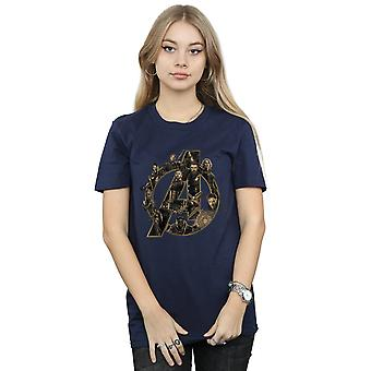 Marvel Women's Avengers Infinity War Marvel Logo Boyfriend Fit T-Shirt