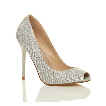 Ajvani naisten korkokenkiä osapuoli prom toimi pumput piip tuomioistuin kengät sandaalit