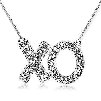 1 / 4ct XO Diamond Pendant 14K White Gold