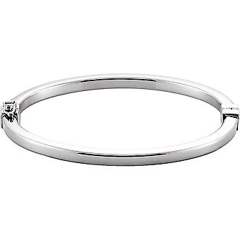 925 Sterling Silver Hinged Cuff Stackable Bangle Bracelet Jewelry Gifts for Women