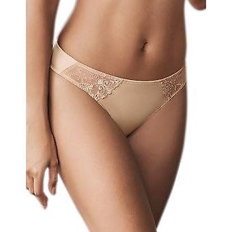 Rosa Faia 1338-753 Women's Grazia Desert Nude Embroidered Panty Thong