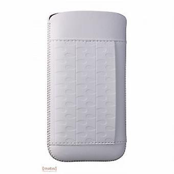 Ozaki coat OC551RA nature rain leather case iPhone 5 5 S white