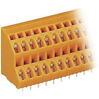 WAGO 2-tier terminal 2,50 mm² aantal pinnen 16 Orange 1 PC('s)