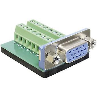 DeLOCK 65170 conector VGA zócalo, vertical vertical número de pernos: 16 Silver 1 PC